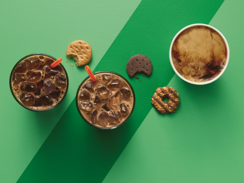 Girl Scout Cookie Inspired Drinks at Dunkin Donuts