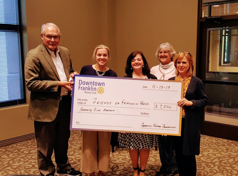 Downtown Franklin Rotary Club Donates $15,000 to Local Charities
