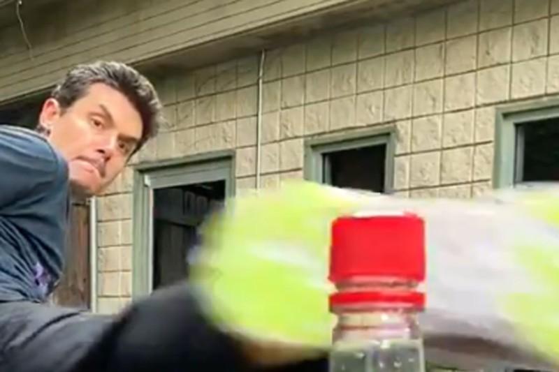 John Mayer Bottle Cap Challenge