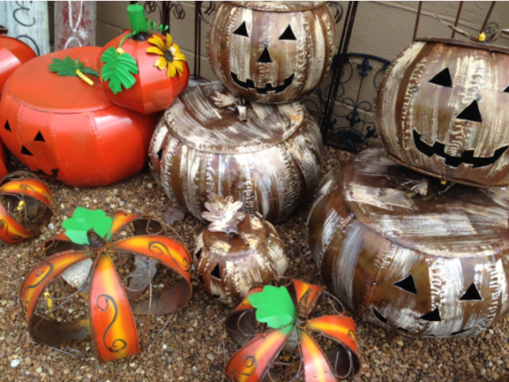 metal pumpkin decor
