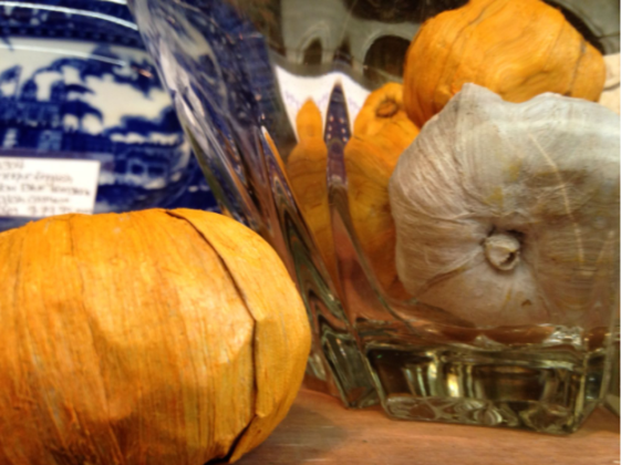 natural pumpkin decor